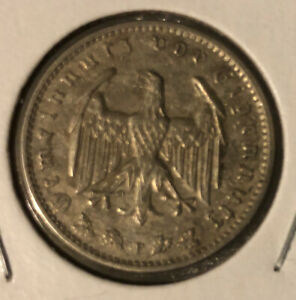 Germany-Collectible-Coin-1-Reichsmark-1934-F-KM-78