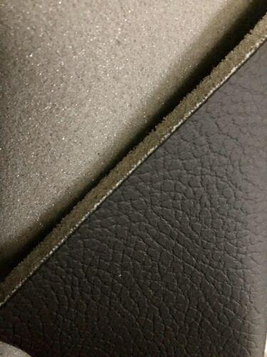 Meterware Automobil Kunstleder mit 4mm Schaumstoff Rücken SCHWARZ grob genarbt
