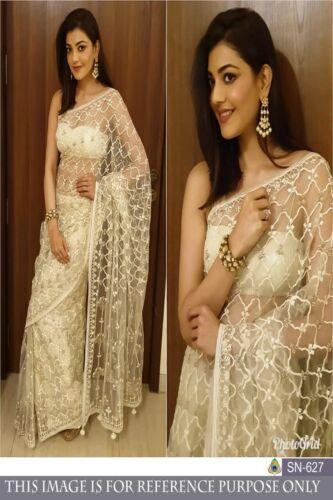 Saree Sari Heavy Embroidery Work Saree Indian Pakistani Ethnic Sari Blouse