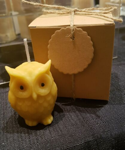 Handmade Natural Beeswax Candle Owl Christmas  gifts