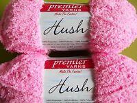 Premier Hush Baby Plush Yarn, Pastel Pink, Lot Of 2 (88 Yds Each)