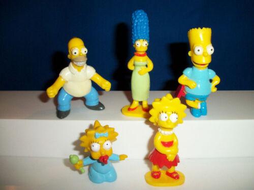 SIMPSONS Family Set 5 PANINI Figures FRENCH Plastic Premiums SIMPSON Figurines