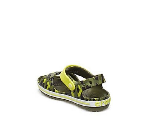 Crocs Crocband Seasonal Graphic Sandals In Camo with Citrus