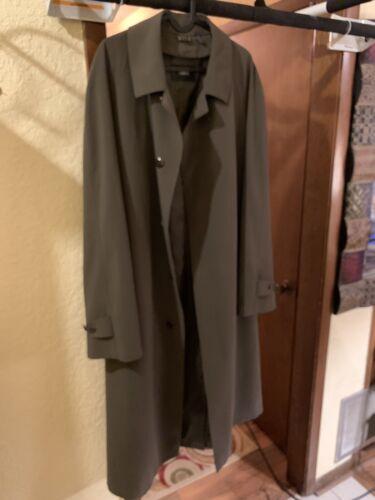 Sanyo Men's Trench Over Coat Light Black Gray • Si