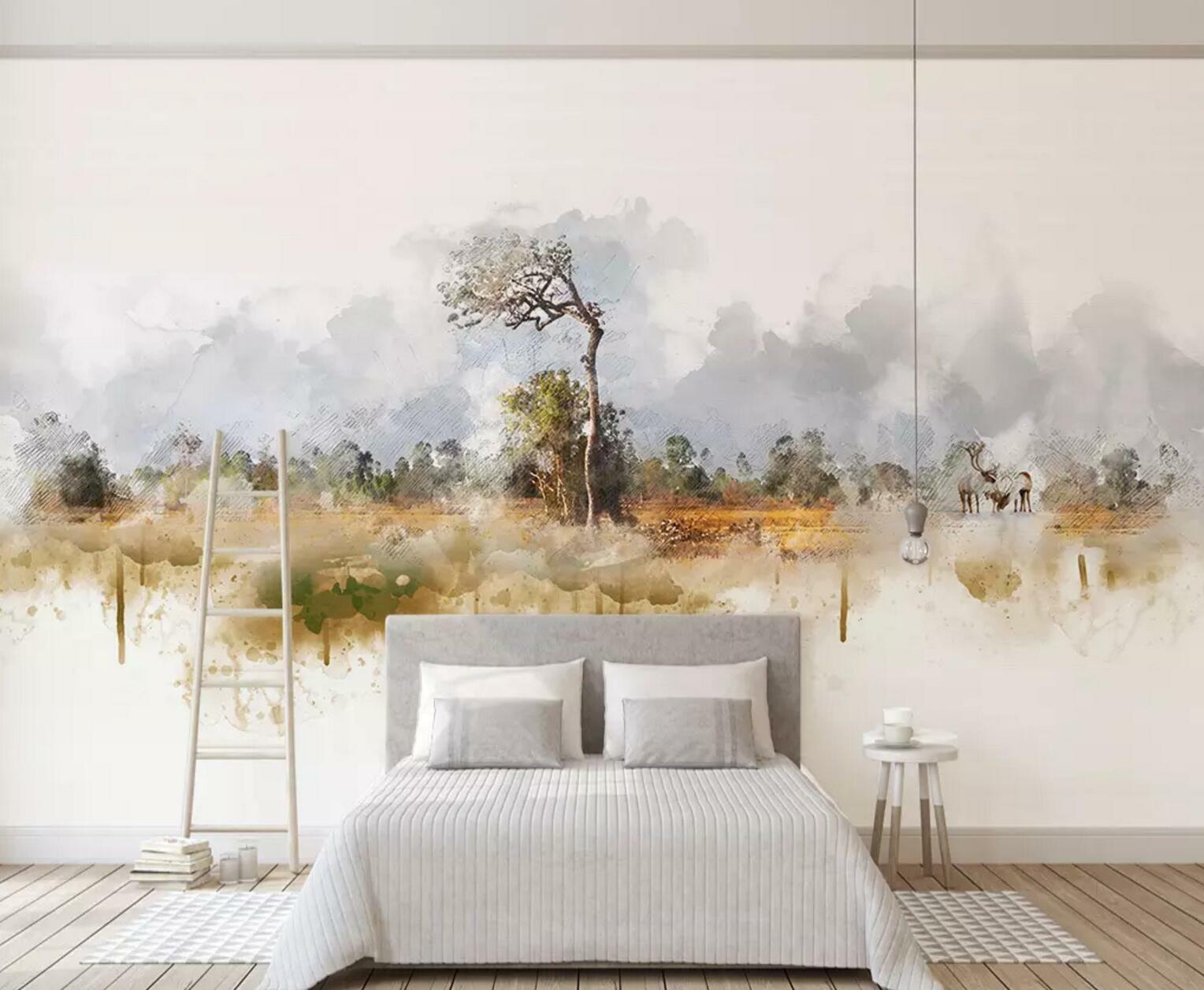 3D Tree Painted 35 Wall Paper Exclusive MXY Wallpaper Mural Decal Indoor wall AJ