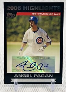 ANGEL PAGAN 2007 Topps Highlights Autographs #HA APA Chicago Cubs MLB