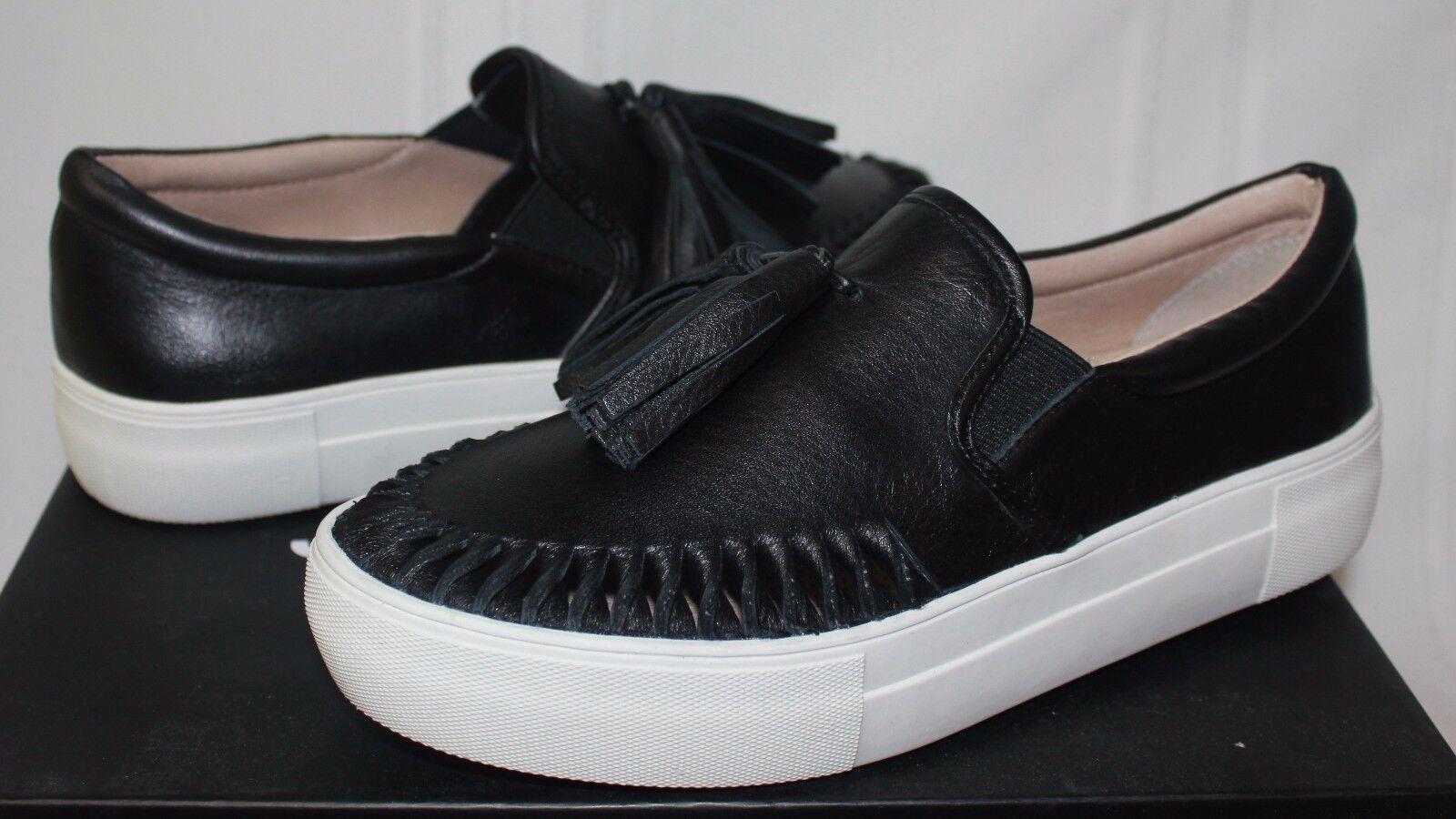 J J J diapositivas para Mujer Zapatos Estilo Azteca Resbalón en Zapatillas De Cuero Negro Nuevo Con CajaGenuineInfinitiG35HojaDeVentilador21060AG202  100% autentico