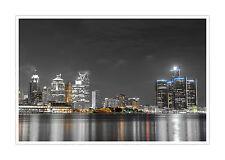 "Detroit Skyline - Touch Of Color Poster - 36"" x 24"" Matte Paper Print"