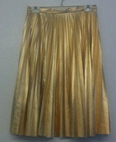 pieghe a metallizzata oro Piega Petite metallizzata Size Top Shop 6 w4qAzzH