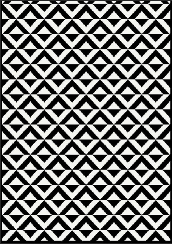 Moderner Teppich Kurzflor Kurzflor Kurzflor Kollektion  Gold B&W  1219 18  Schwarz, Weiß. 0b0288