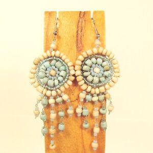 Wholesale Lot 12 PCS Handmade Beaded Dreamcatcher Earrings 12 COLORS