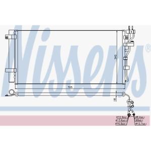 Kondensator Klimaanlage Nissens 940260