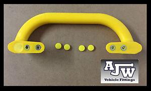2 x jaune acier grande core poignée grab pull remorque bord taxi bus  tracteur ac5dab73f645