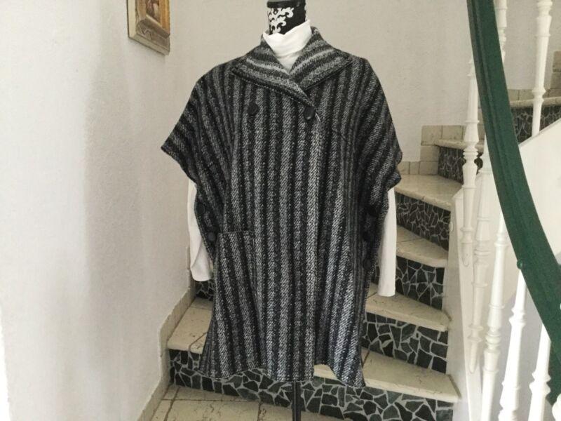 Nice-connection, Wolle-poncho, 100% Wolle, Gr. 38, Neu Mit Etikett Direktverkaufspreis