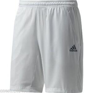176ac302dc5e Image is loading adidas-mens-boys-white-adizero-bermuda-tennis-shorts-