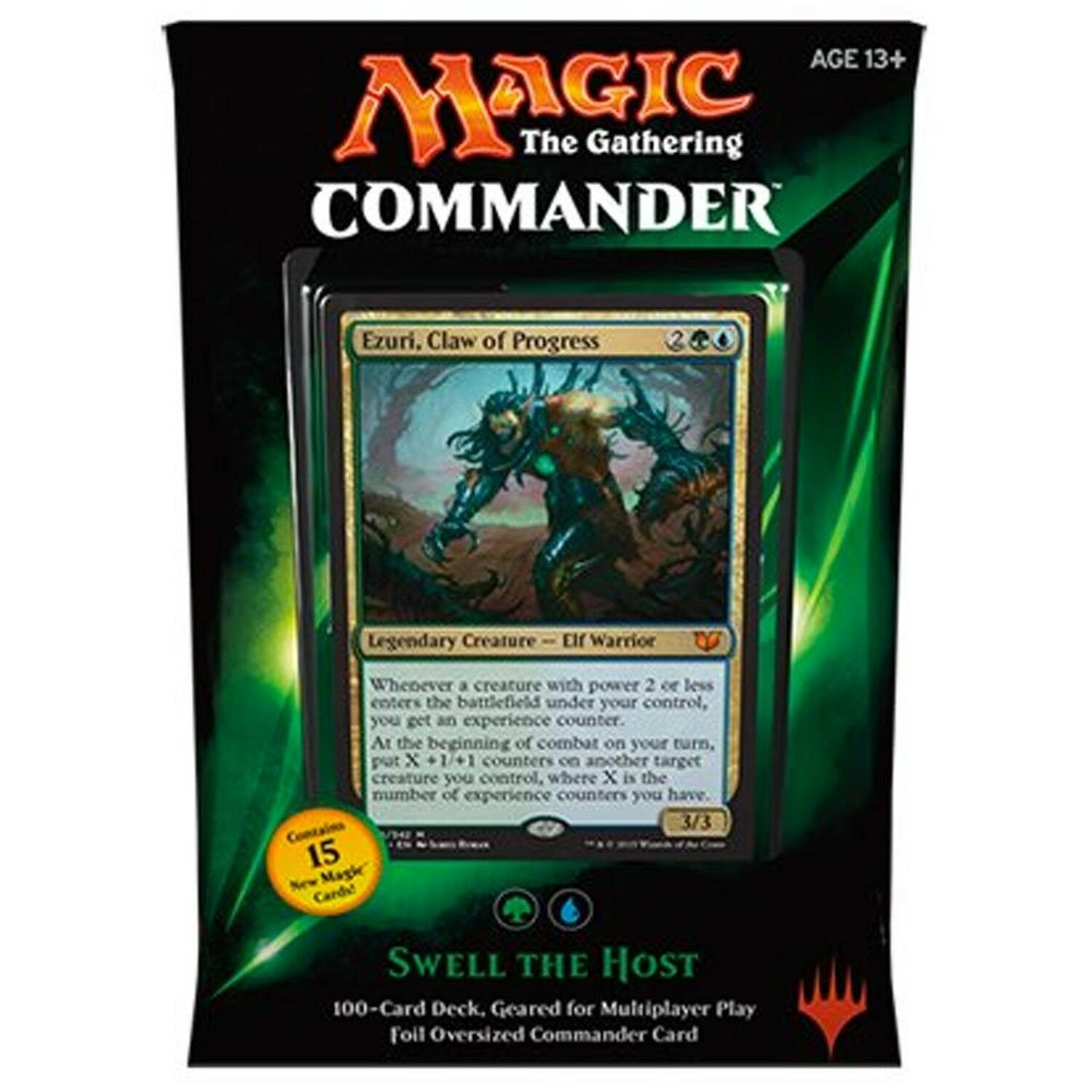MTG Commander 2015 Edition Magic the the the Gathering - Swell the Host Green bluee De... afceba