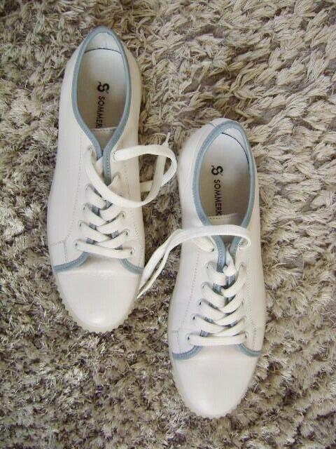 @Sommerkind@ Baskets Chaussures Blanc Gr. 41 US 9 UK 7 Classique Cuir Topp