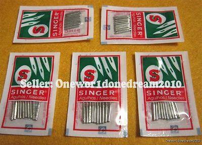 50x Singer Needles Lot Regular Ball Point 2045 Size 100/16 New Wholesale Size 16
