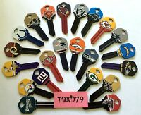 NFL Officially Licensed Football Team Key Blank, Kwikset KW1, KW10, KW11, 66, 97
