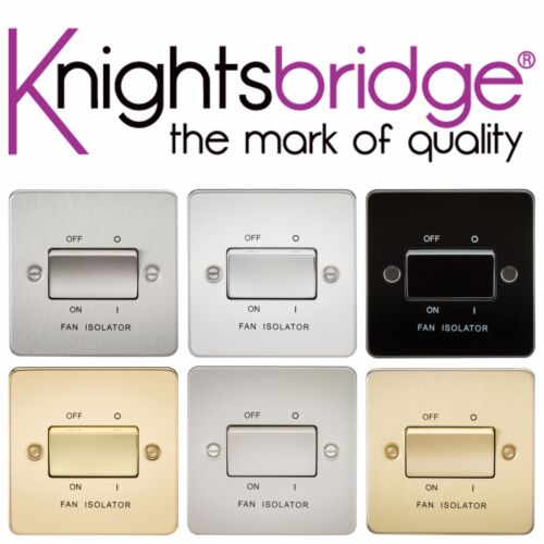 Knightsbridge Placa Plana 10A 10 Amp 3P 3 polos 1 Gang Interruptor Aislador de Ventilador de 1G