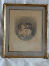 Honoré FRAGONARD (1732-1806) GRAVURE ENCADRÉE SCÈNE BAISER AMOUR ROMANTISME
