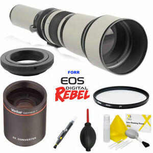 650-2600mm-HD-TELEPHOTO-TELESCOPIC-ZOOM-LENS-CASE-FILTER-FOR-CANON-EOS-REBEL
