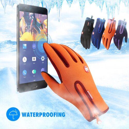 Windstopers Waterproof Anti Slip Thermal Warm Touch Screen Zipper Winter Gloves