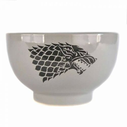 GAME OF THRONES HOUSE STARK STONEWARE BREAKFAST CEREAL BOWL