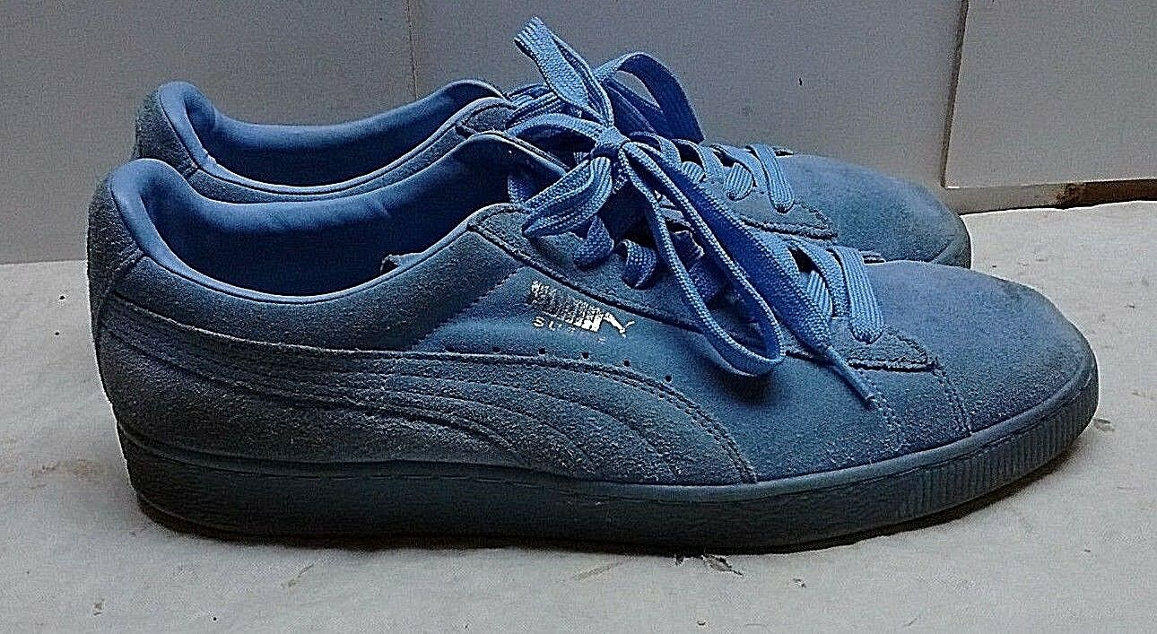 Puma Classic Suede bluee Fashion Sneakers Low Tops Lace Up Casual Men's shoes 12M
