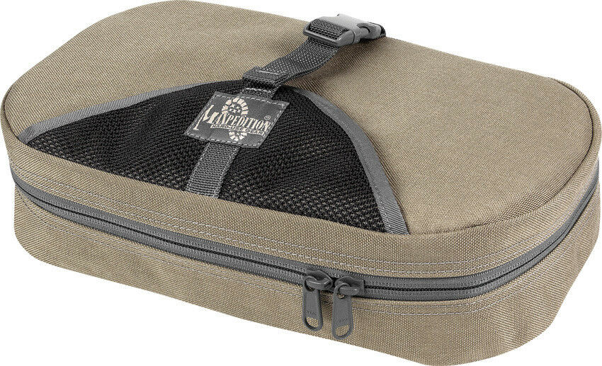 Maxpedition Tactical Toiletry Bag 1810KF Khaki Foliage Green. Measures 13  x 7 1