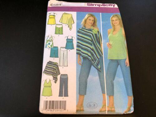 Simplicity Pattern 4584 Ms MATERNITY Capri Pants~Shorts~Poncho /& Knit Tops