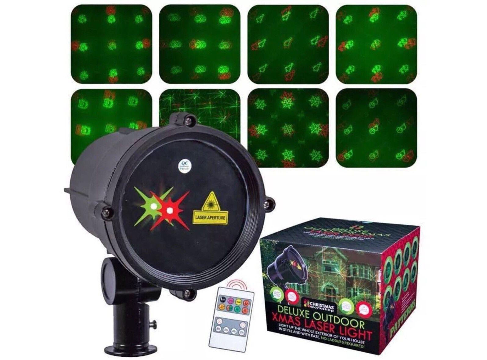 Navidad De Lujo Navidad Al Aire Libre Proyector LED Láser 8 patrones de rojoación libre P&p