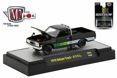 M2 Machines Auto-Trucks 1978 Datsun Pickup Truck Black Hobby Exclusive 1//64