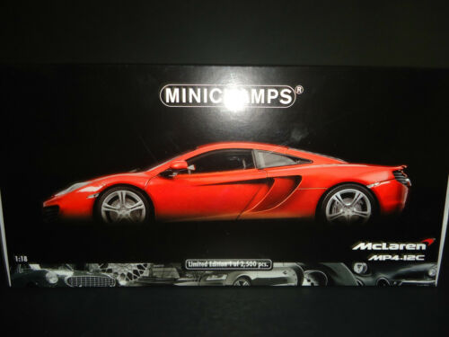 Minichamps McLaren MP4-12C 2011 Metallic Orange 1//18 Limited Edition