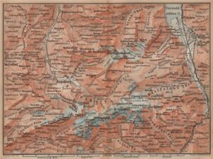 Engelberg Environs Art Art Prints Uri/urner Alps Titlis Blackenstock Sarnen Altorf 1893 Map