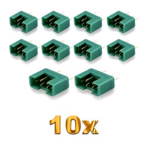 10-Stueck-MPX-Male-Stecker-M6-6PIN-Multiplex-Style-6-Polig-35A-Gruen-Plug-Buchse