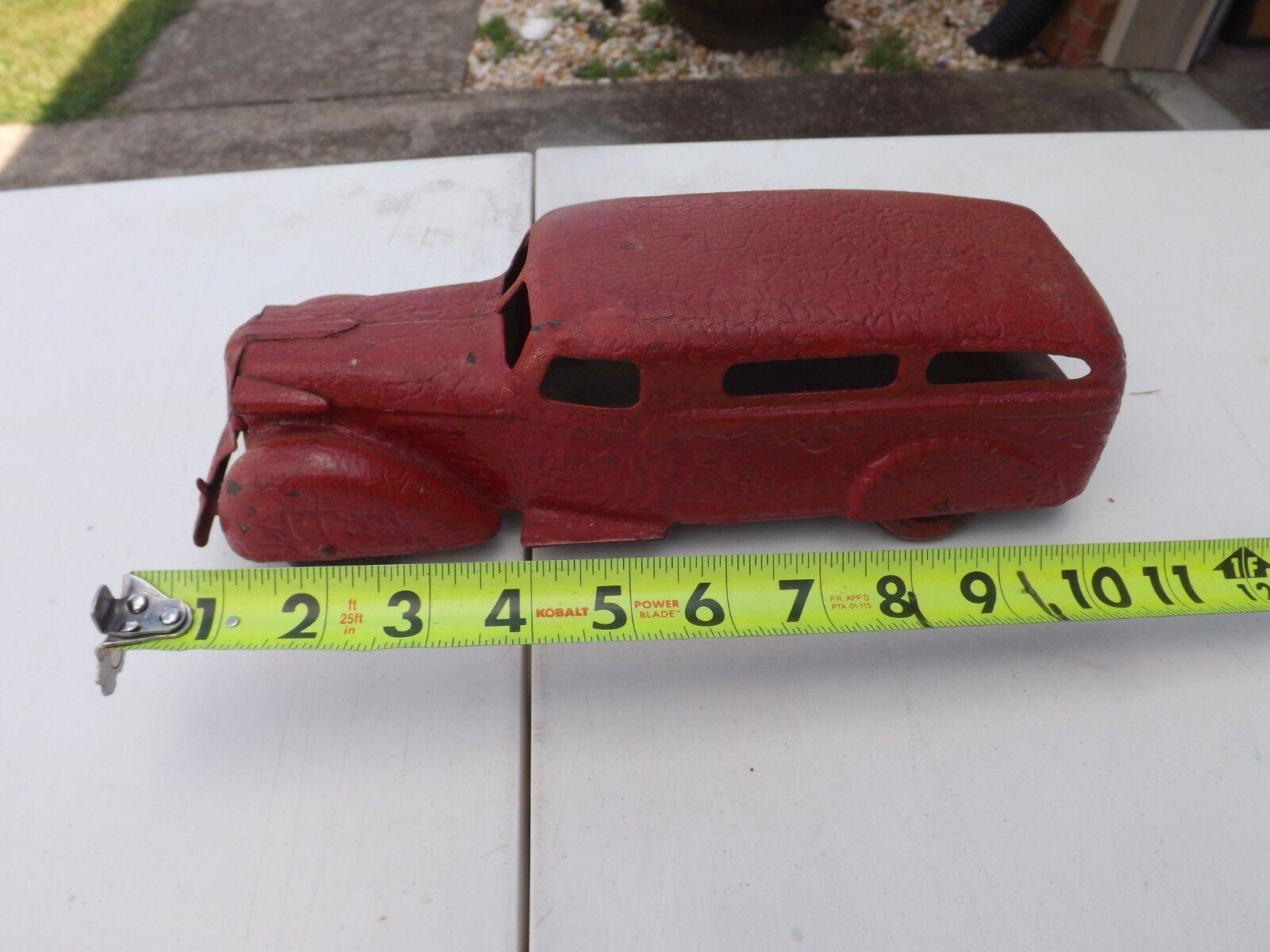 1930's Wyandotte LaSalle Pressed Steel Toy Car RARE HTF rosso