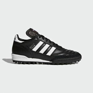 2fda763b8f9a65 Adidas Mundial Team Men s Leather Black Soccer Shoes Cleats Futsal ...