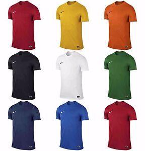 Garçons Nike Park T Shirts Sport Football Gym Enfants Haut D'entraînement Dri Fit Jersey-afficher Le Titre D'origine êTre Reconnu à La Fois Chez Soi Et à L'éTranger Pour Sa Finition Exceptionnelle, Son Tricot Habile Et Son Design éLéGant