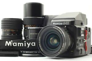 {NEAR MINT} MAMIYA 645 pro + C 35mm N + 55-110mm 105-210mm Lens JAPAN #829S