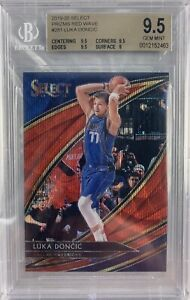 Luka Doncic 2019-20 Panini Select Tmall Courtside Red Wave Prizm BGS 9.5 SP