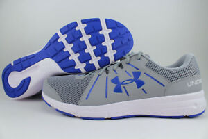 UNDER-ARMOUR-UA-DASH-RUN-2-EXTRA-WIDE-4E-EEEE-GRAY-WHITE-BLUE-RUNNING-MEN-SIZES