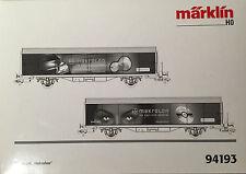 HO Marklin Special Wagon 2-pack Makrolon, Bayer.  New in box, rare