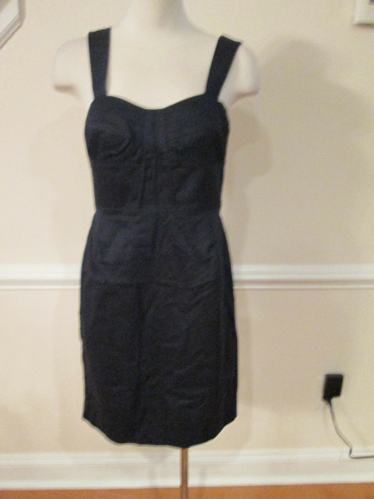Boston proper seamed stretch sheath dress 4 indigo new