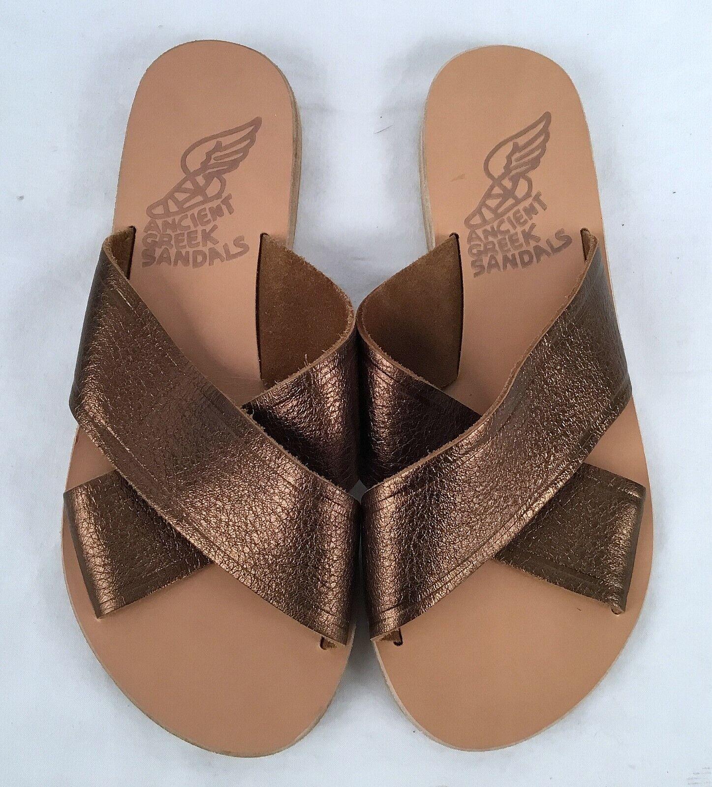 nyA antika grekiska sandaler -'Thais Bronze läder -Storlek US 5   EU 36 - (P11)