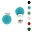 925-Sterling-Silver-10mm-Ball-Turquoise-Black-Onyx-Coral-Jade-Stud-Earrings thumbnail 1