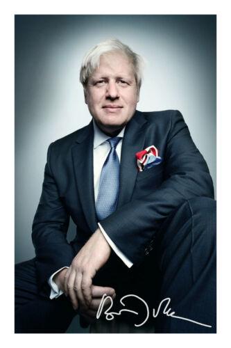 Boris Johnson Signed A4 Signed Photo Print Autograph