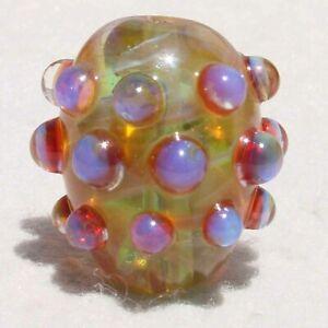 PRICKLY-IN-PINK-Handmade-Art-Glass-Focal-Bead-Flaming-Fools-Lampwork-Art-Glass