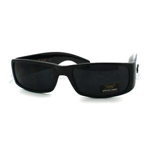 Black Locs Sunglasses Men's Rectangular Super Dark Lens ...
