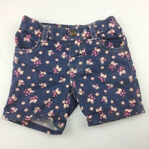 Girls-size-2-Target-cotton-blend-floral-shorts-elasticated-GUC